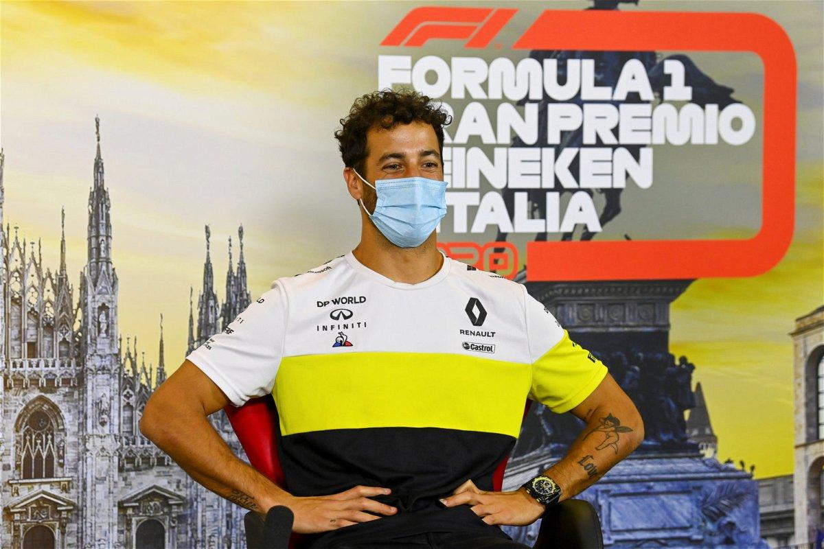 Daniel Ricciardo during press conference at Italian Grand Prix, 2020