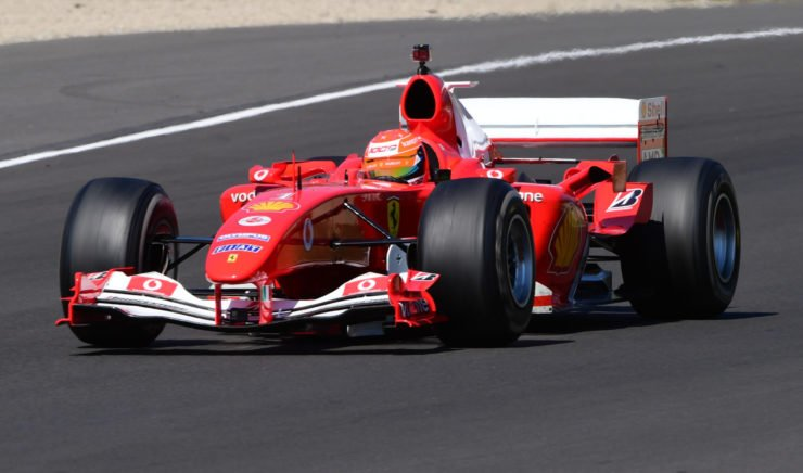 Mick Schumacher Driving The F2004 At Mugello