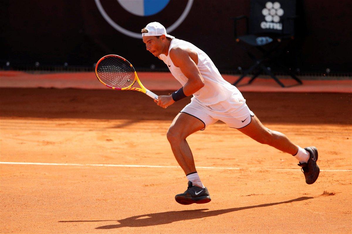 Rafael Nadal at Italian Open 2020.