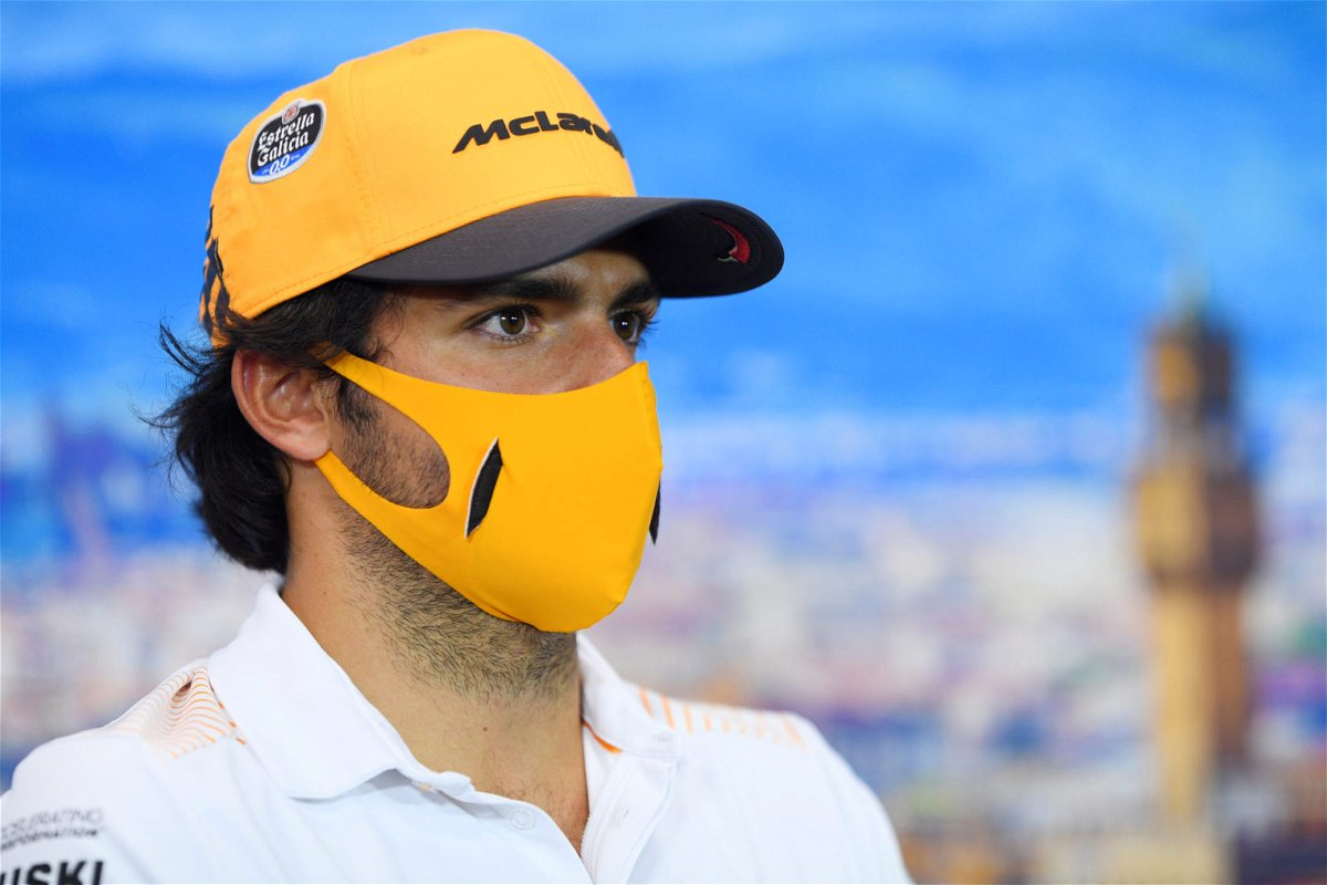 Carlos Sainz At Tuscan GP Press Conference