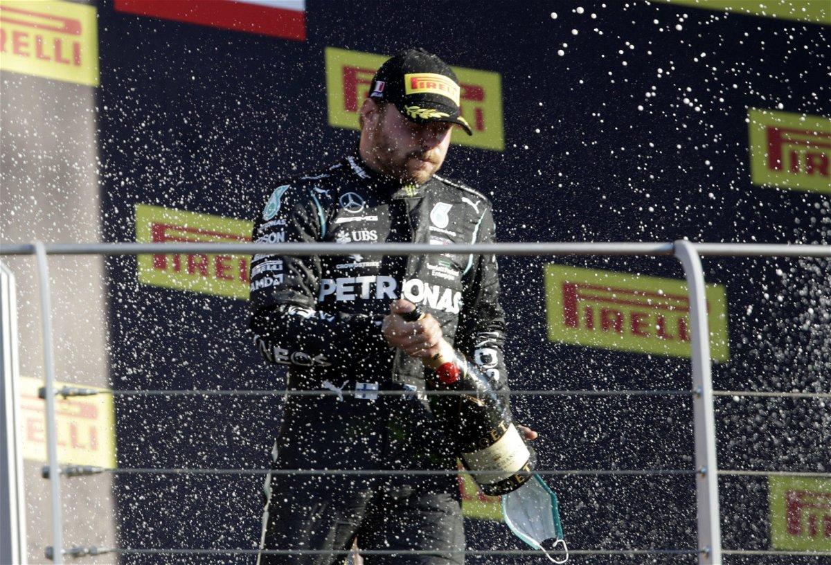 Valtteri Bottas Celebrates At The Tuscan GP