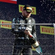 Valtteri Bottas Celebrates At The Tuscan GP