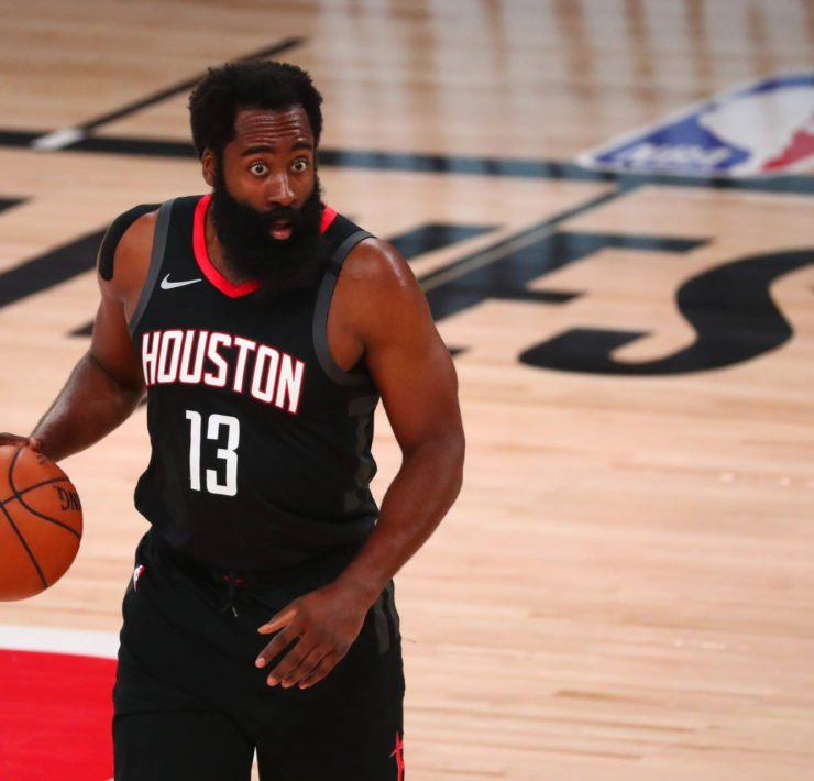 Houston Rockets James Harden against Oklahoma City Thunder