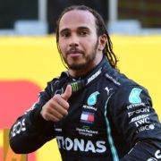 Lewis Hamilton Celebrates His Win At Tuscan GP