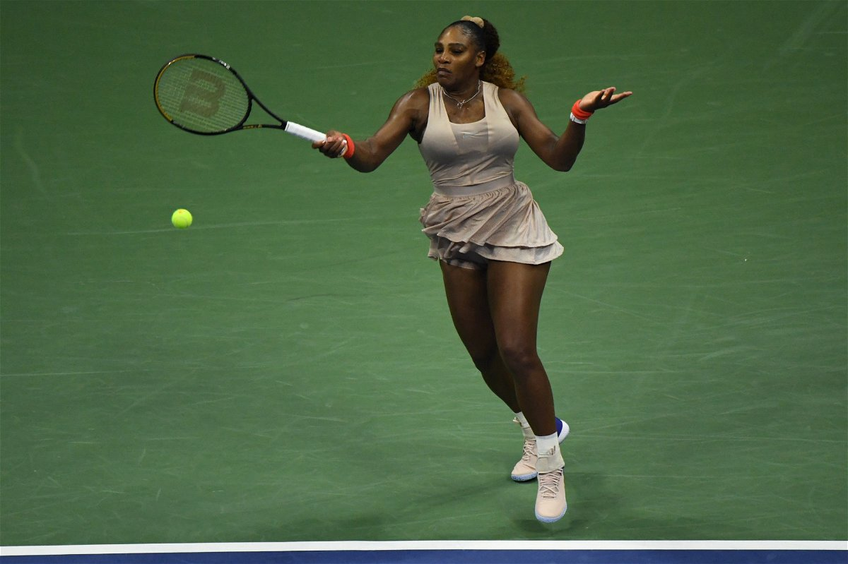 Serena Williams in action at US Open