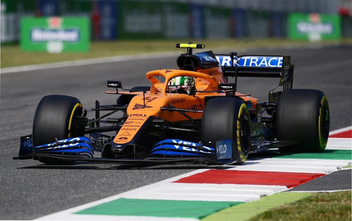 Mclaren's Lando Norris during the Tuscan Grand Prix in Mugello