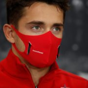 Ferrari driver Charles Leclerc at a press conference