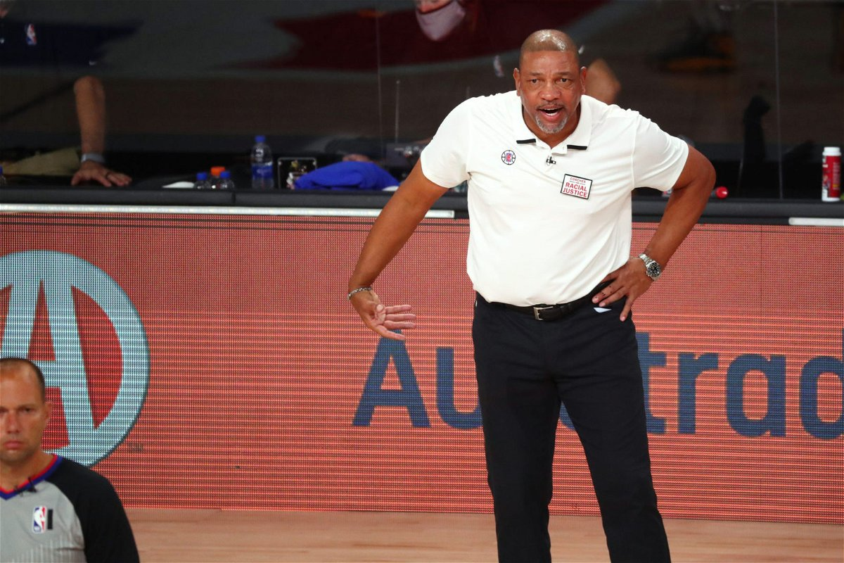 Clippers coach Doc Rivers against the Denver Nuggets