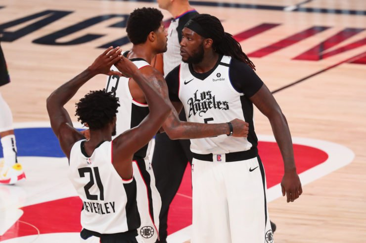 LA Clippers Paul George and Montrezl Harrell