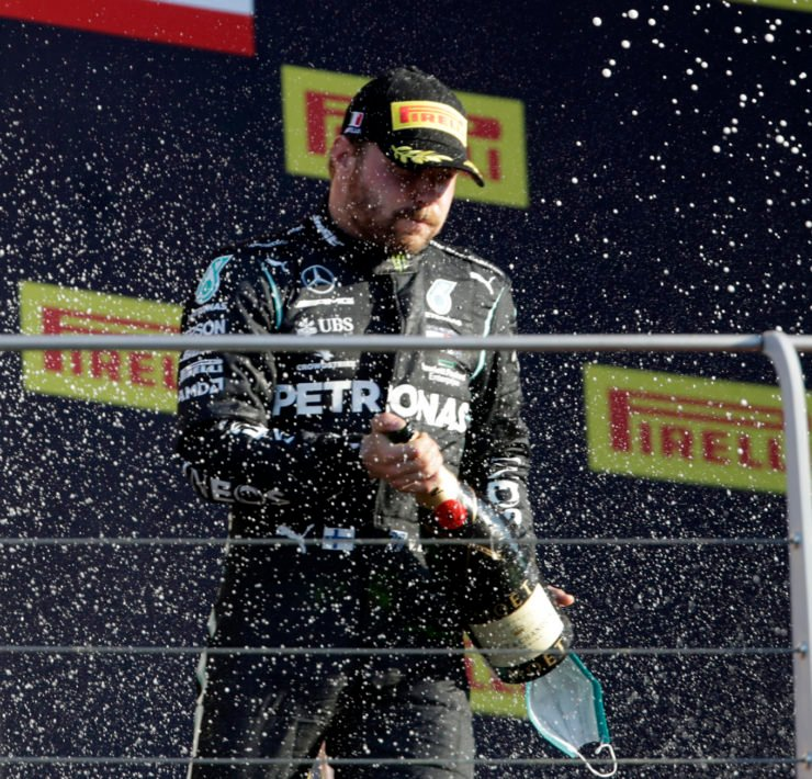 Valtteri Bottas at the Mugello Podium after Tuscan Grand Prix