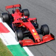 Sebastian Vettel during the race at the Italian Grand Prix, 2020