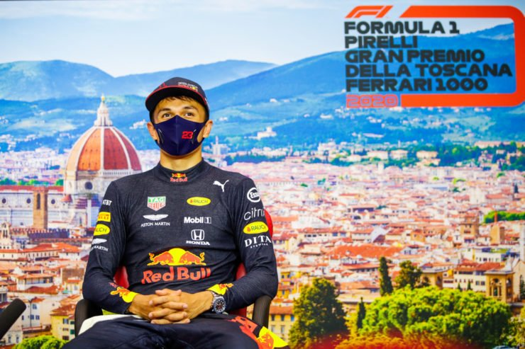 Alex Albon At Tuscan GP Press Conference