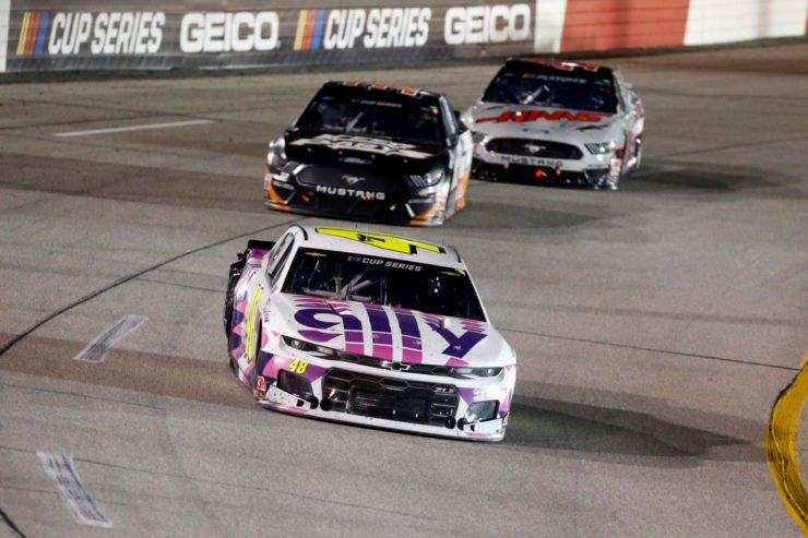 Hendrick Motorsports driver Jimmie Johnson in action