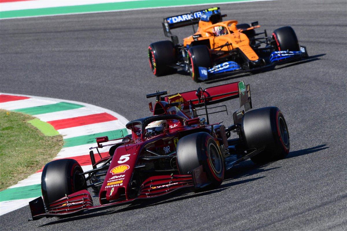 Ferrari and McLaren in the Tuscan Grand Prix 202