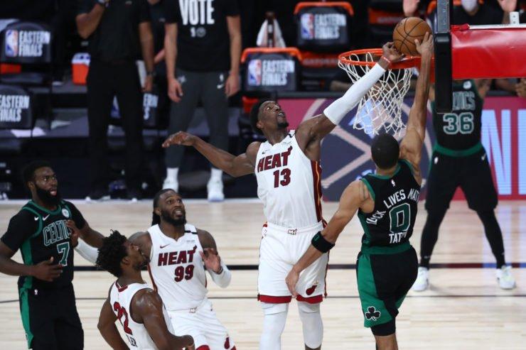 Boston Celtics against Miami Heat in ECF