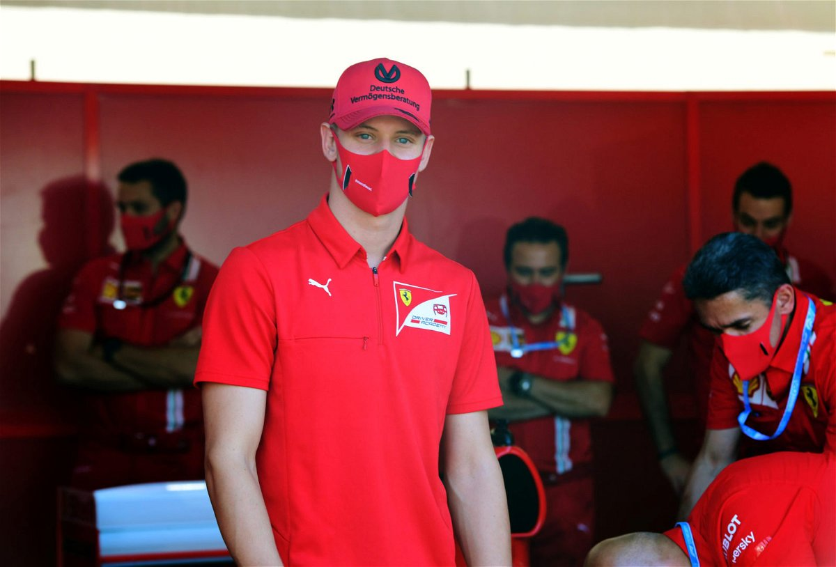 Mick Schumacher in the Ferrari pit-stop in Tuscan Grand Prix
