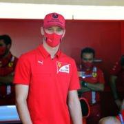 Mick Schumacher in the Ferrari pit-stop in Tuscan Grand Prix