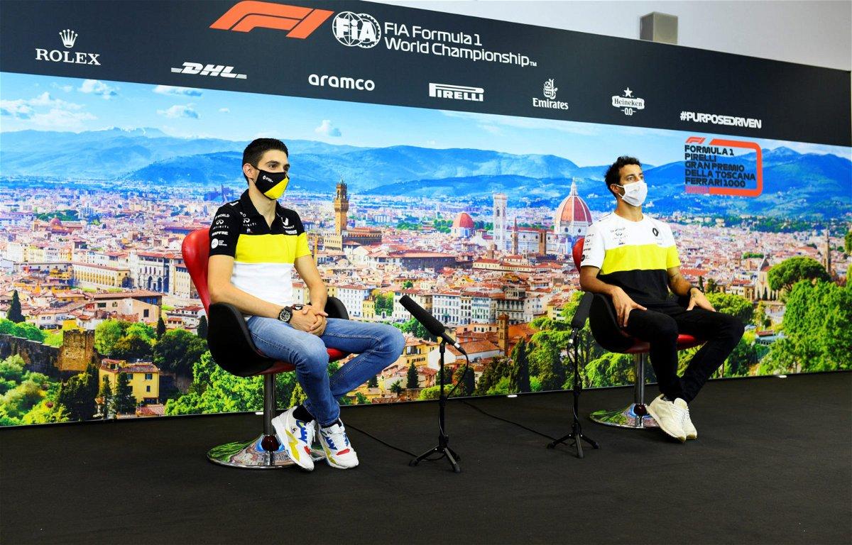 Esteban Ocon and Daniel Ricciardo at Tuscan Grand Prix