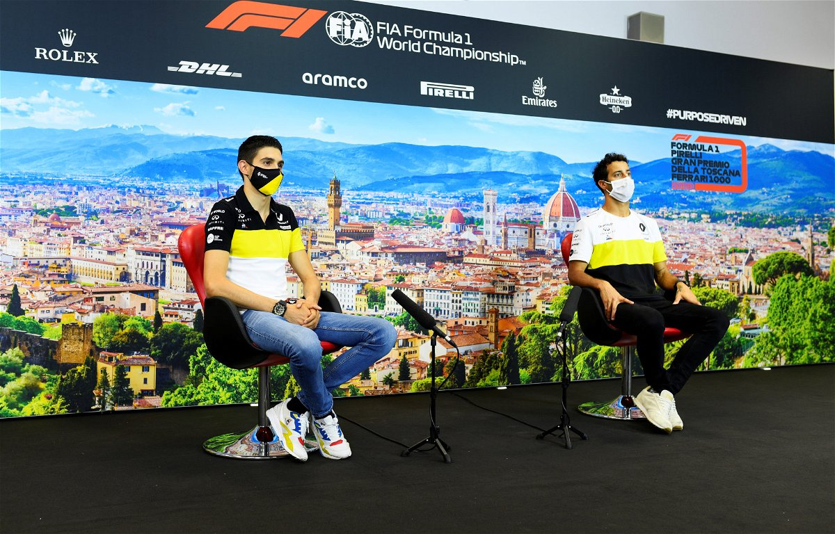 Esteban Ocon and Daniel Ricciardo at Tuscan Grand Prix