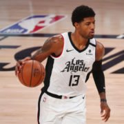 Clippers foward Paul George against Denver Nuggets
