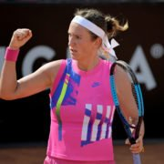 Victoria Azarenka in action in the Italian Open 2020