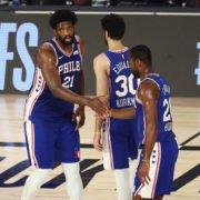 Philadelphia 76ers team in 2020 NBA playoffs