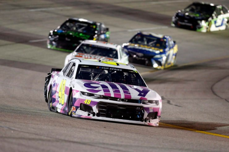 Jimmie Johnson in action in NASCAR