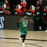 Boston Celtics guard Marcus Smart in the 2020 NBA Playoffs