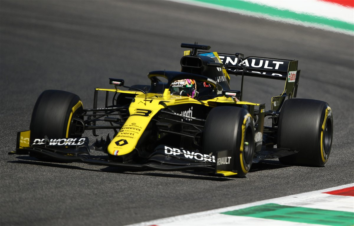 Daniel Ricciardo in the Renault R.S.20 during the Tuscan Grand Prix