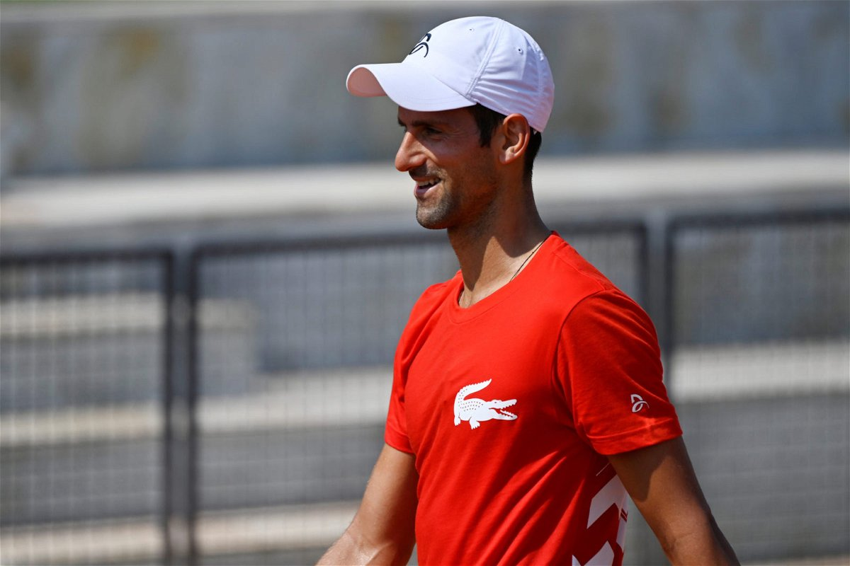 Novak Djokovic at Italian Open 2020