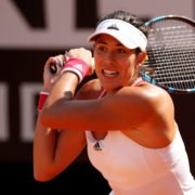 Garbine Muguruza in action against Coco Gauff at the 2020 Italian Open