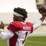 Arizona Cardinals quarterback Kyler Murray warms ahead of the season opening game against San Francisco 49ers in Week One.