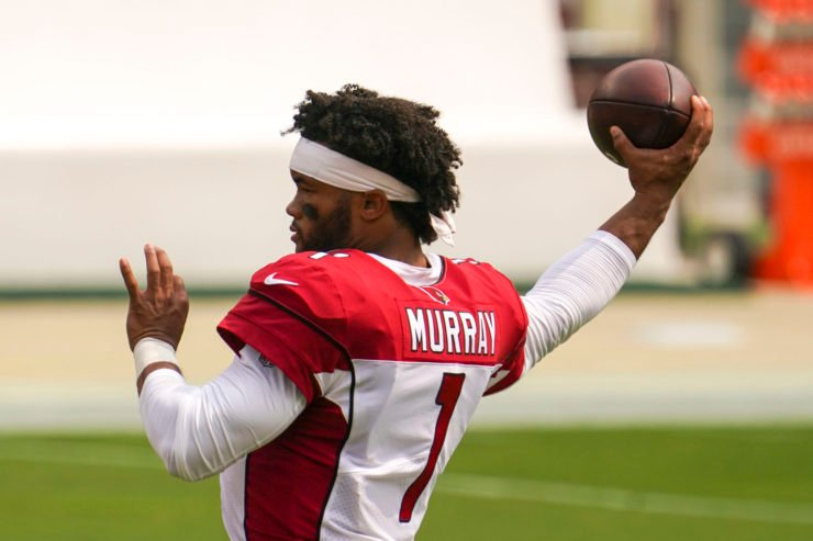 Arizona Cardinals quarterback Kyler Murray warms ahead of the season opening game against San Francisco 49ers in Week One.