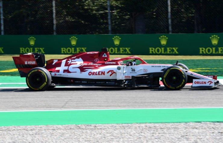 Kimi Raikkonen During Italian GP Practice