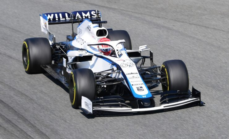 Williams driver George Russell during the Italian GP race