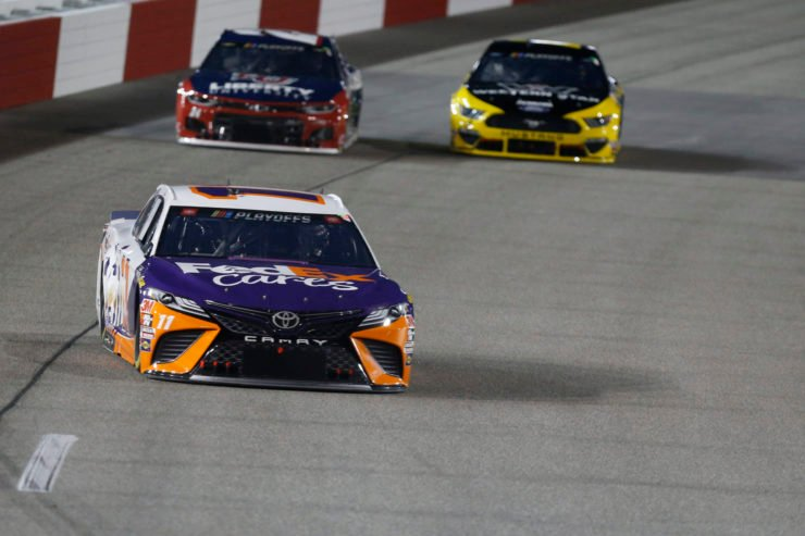 Denny Hamlin in action in NASCAR Cup Series