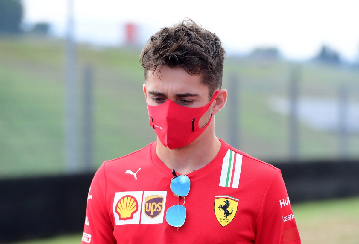 Charles Leclerc At The Mugello Circuit
