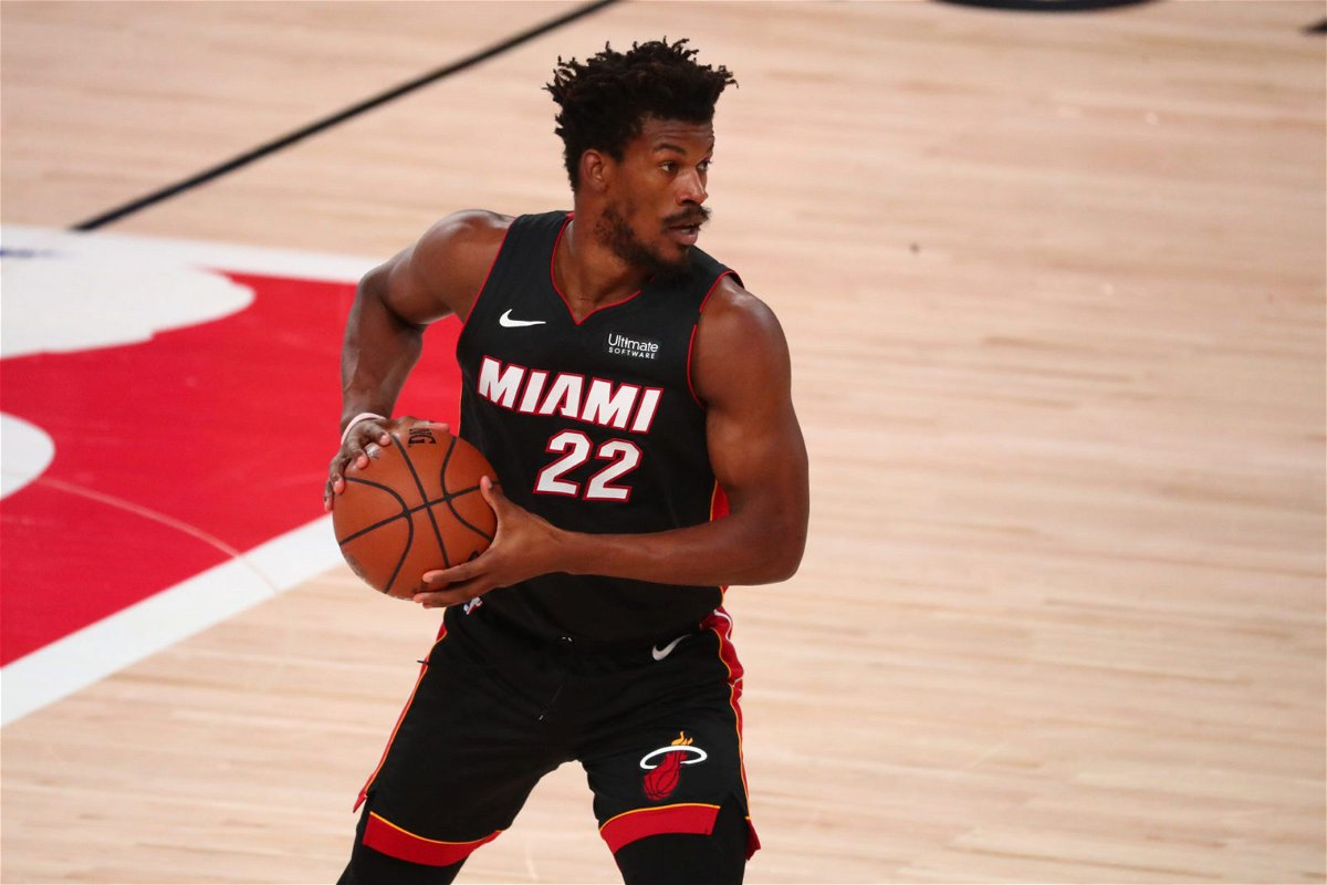 Heat star Jimmy Butler in Conference Finals Game 3 against Celtics