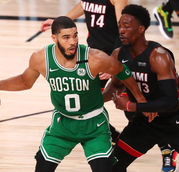 Bam Adebayo defends Celtics star Jayson Tatum in Eastern Conference Finals Game 3
