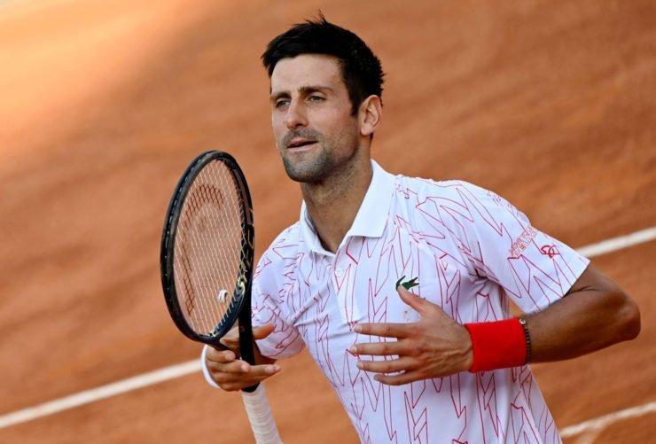 Novak Djokovic at Italian Open 2020