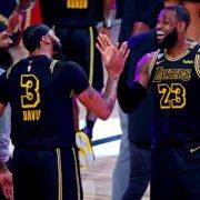 Los Angeles Lakers vs Denver Nuggets: Anthony Davis and LeBron James