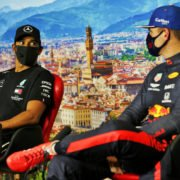 Hamilton and Verstappen At Tuscan GP Press Conference