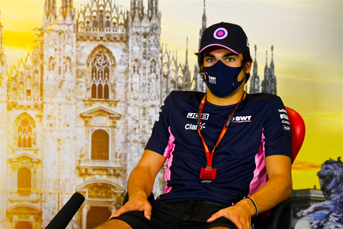 Racing Point's Lance Stroll at a press conferences ahead of the Italian Grand Pirx