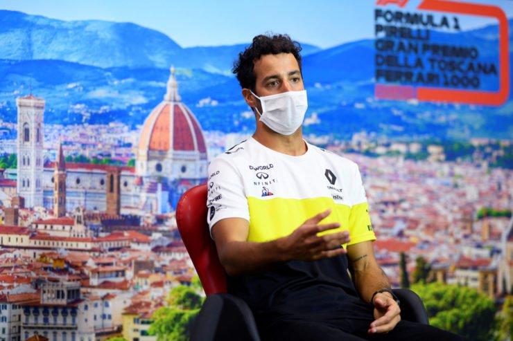 Daniel Ricciardo during a press conference in Tuscan Grand Prix