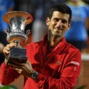 Novak Djokovic at the finals of Italian Open 2020