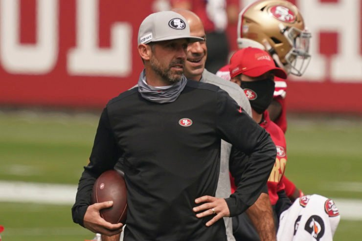 San Francisco 49ers head coach Kyle Shanahan pictured before the game against Arizona Cardinals in Week One.