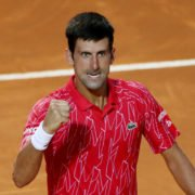 Novak Djokovic at the 2020 Italian Open