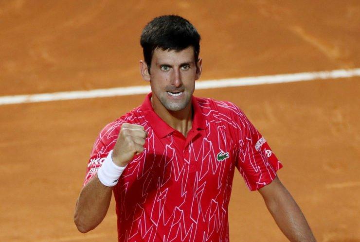 Novak Djokovic at the 2020 Italian Open