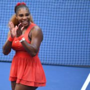 Serena Williams smiling at US Open 2020