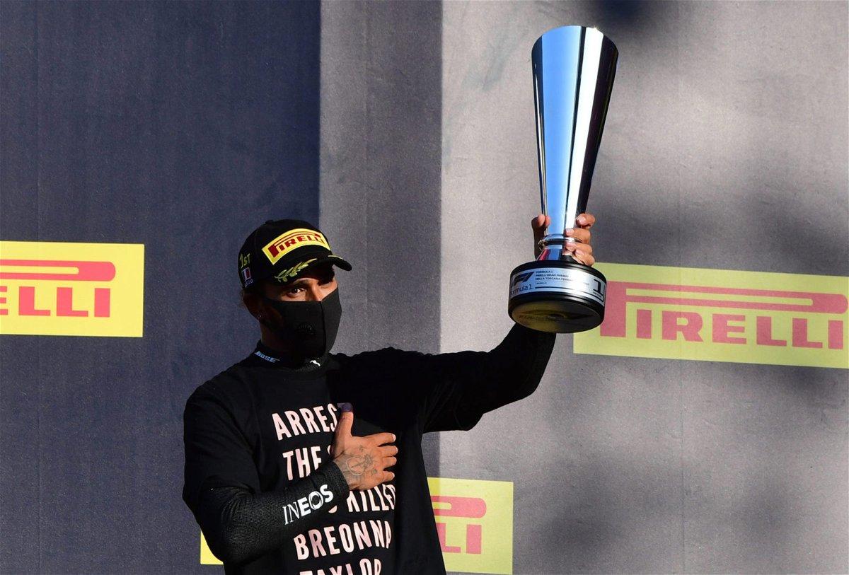 Lewis Hamilton at the Tuscan Grand Prix, 2020